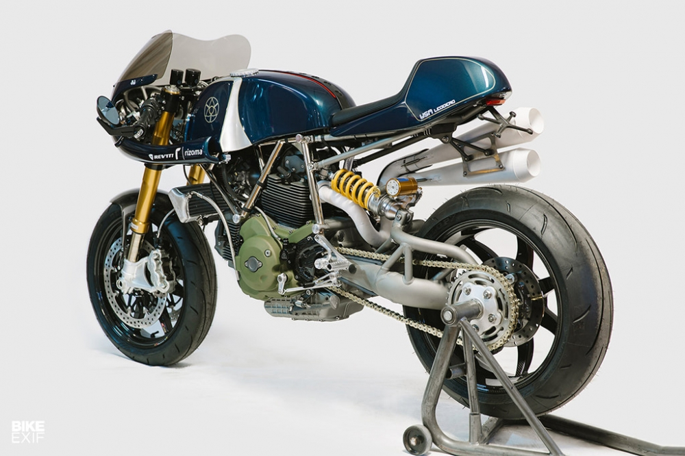 Ducati Monster 1100 ban do day co bap theo phong cach American - 7