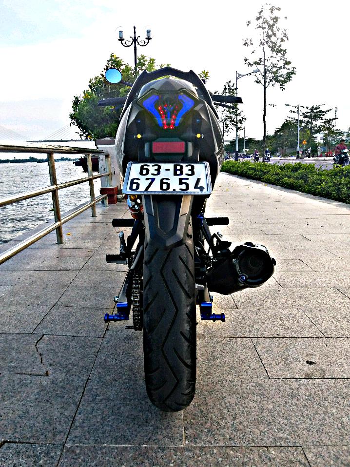 Exciter 150 do gian don mang ve dep don gian cua biker Tien Giang - 9