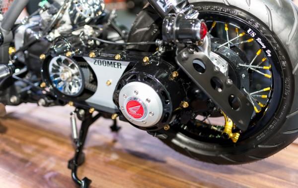 Honda Zoomer do phong cach Cafe Racer - 9