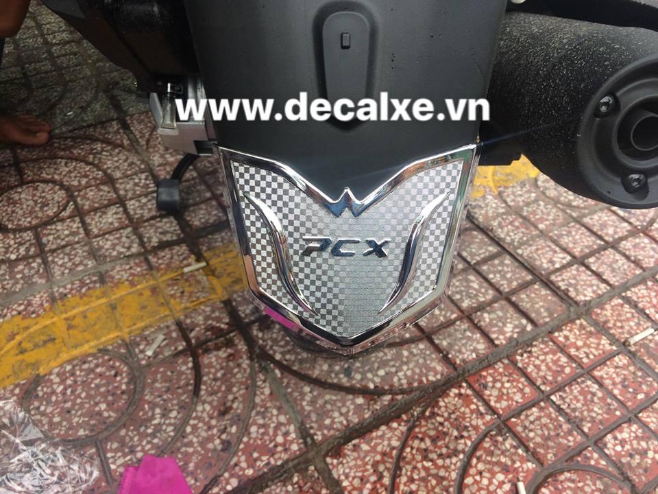 Phu kien trang tri xe Pcx 2018 phien ban moi - 7