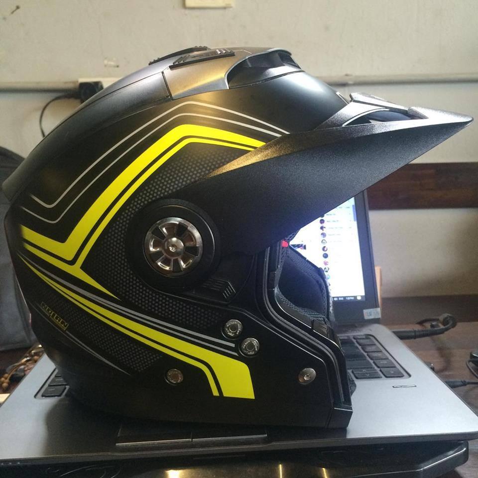 motorush299 MU BAO HIEM Nolan N44 Evo Flat Black Yellow la chieu mu tich hop 6 trong 1 duy nhat da - 4