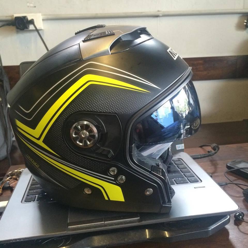 motorush299 MU BAO HIEM Nolan N44 Evo Flat Black Yellow la chieu mu tich hop 6 trong 1 duy nhat da - 5