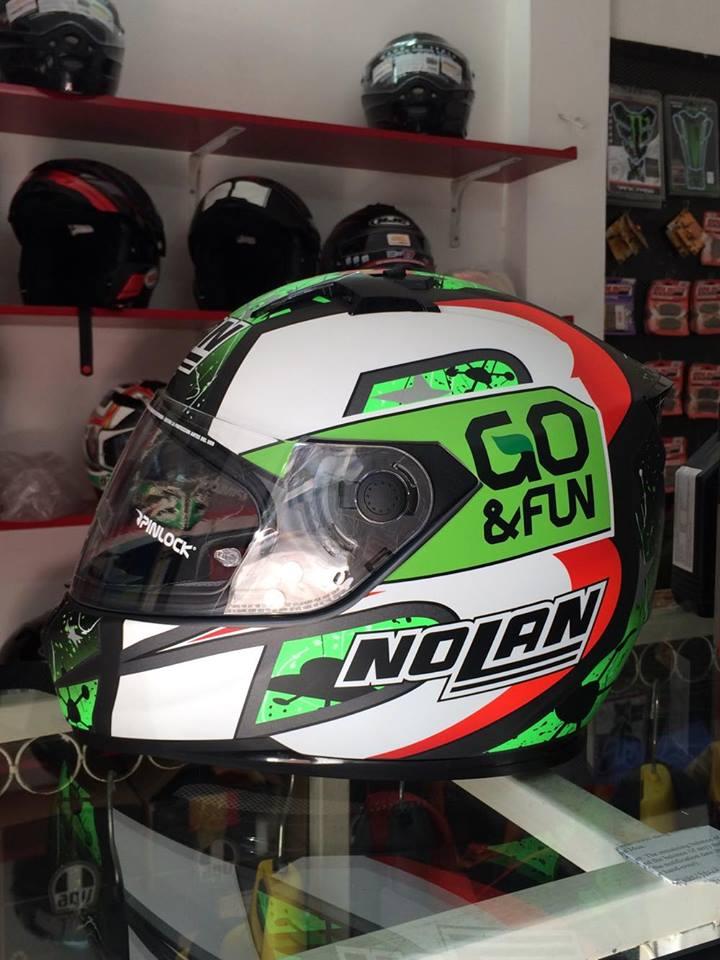 motobox Giam gia den 20 cho mu bao hiem Nolan N64 Aspalt Black - 4