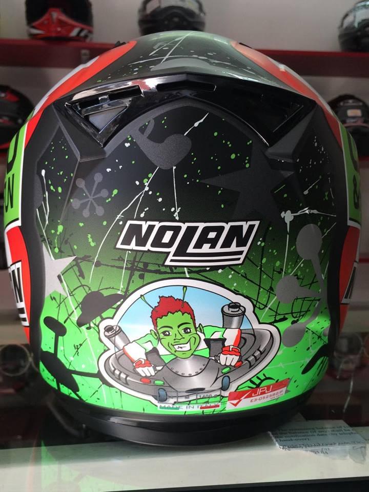 motobox Giam gia den 20 cho mu bao hiem Nolan N64 Aspalt Black - 5