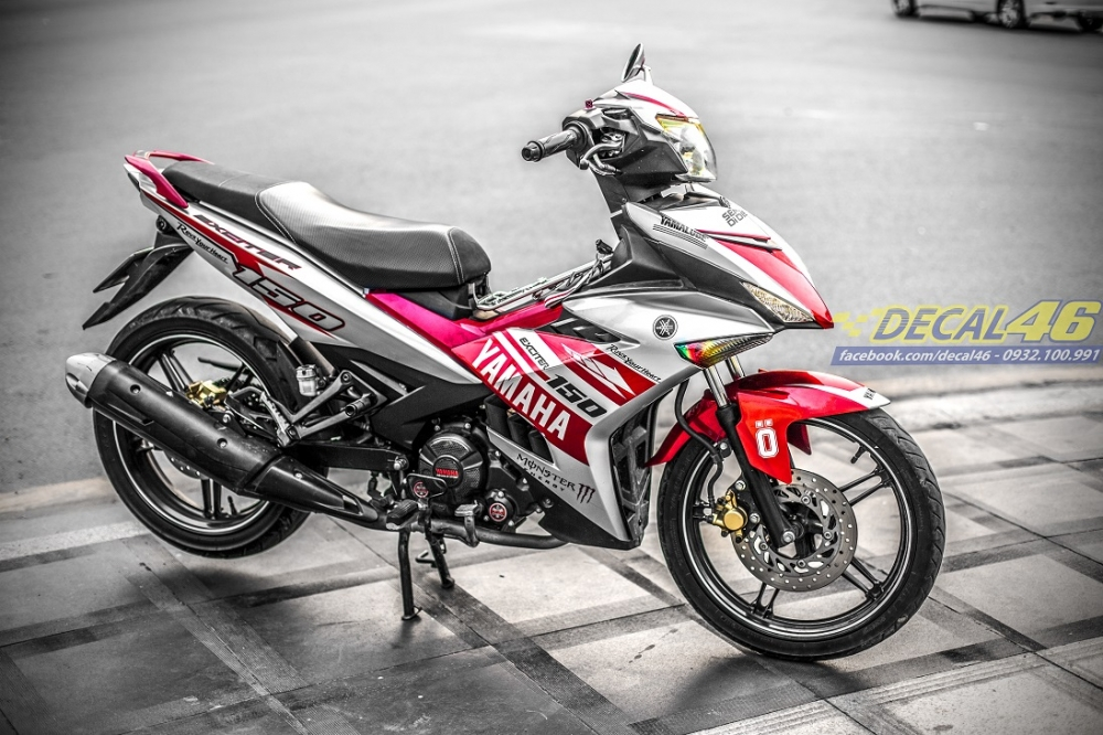 Tong hop tem xe Exciter 150 trang do chat thang 52018 do Decal46 thuc hien - 7