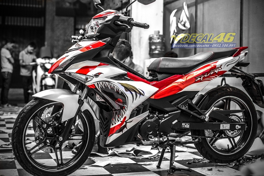 Tong hop tem xe Exciter 150 trang do chat thang 52018 do Decal46 thuc hien - 9