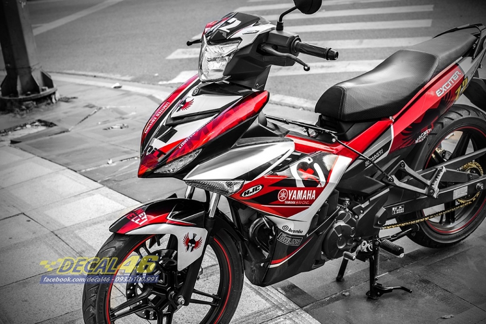 Tong hop tem xe Exciter 150 trang do chat thang 52018 do Decal46 thuc hien - 13