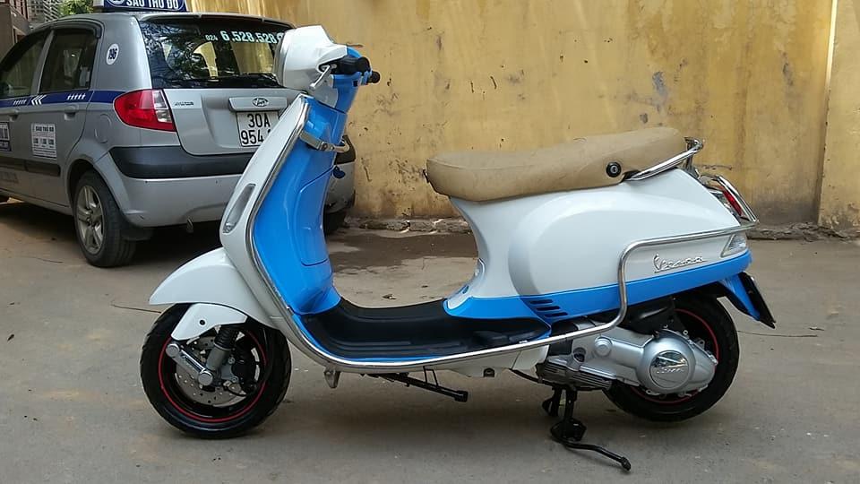Vespa Lx 150cc nhap italia mau trang xanh bien HN - 5