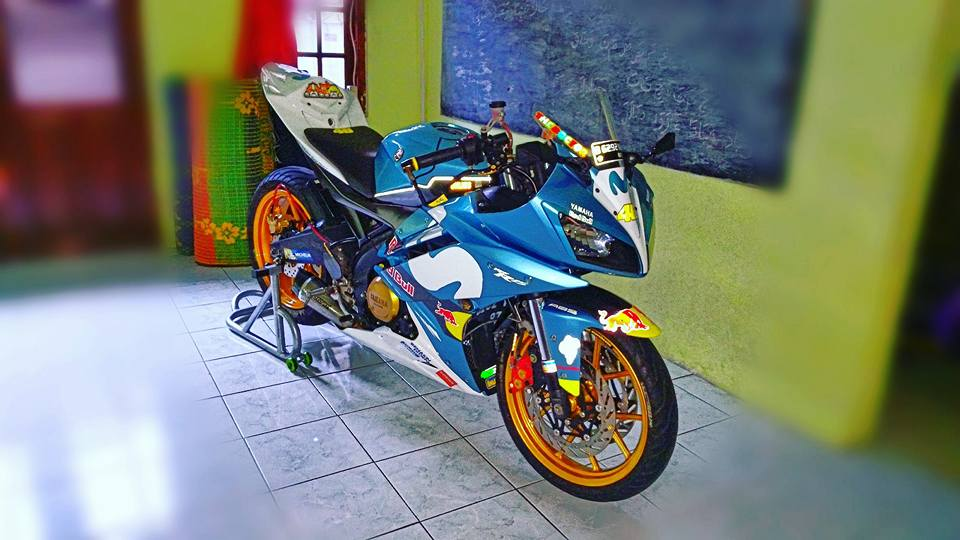 Yamaha R15 do con quai thu ham ho ngu quen cua biker Indo - 3