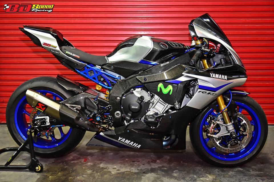 Yamaha R1M day suc hap dan voi body Carbon fiber - 3