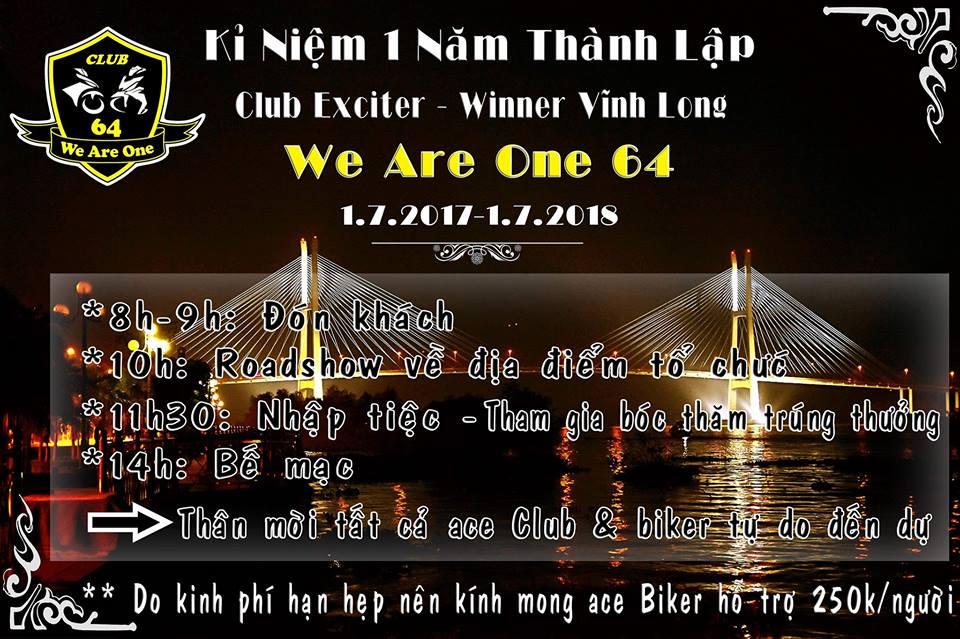 2banhvn Dong hanh cung Club Exciter We Are One 64 Vinh Long mung sinh nhat lan thu I - 2