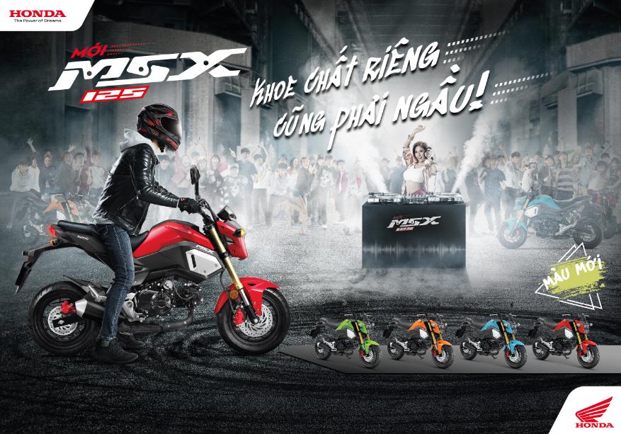 Honda Viet Nam trinh lang mau MSX 125cc phien ban moi - 2