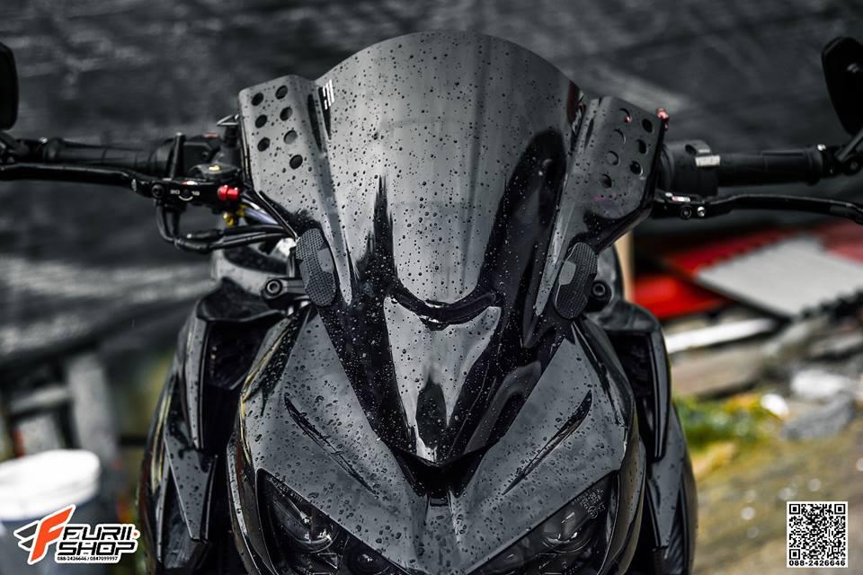 Kawasaki Z1000 ve dep huyen bi trong than hinh full black - 3