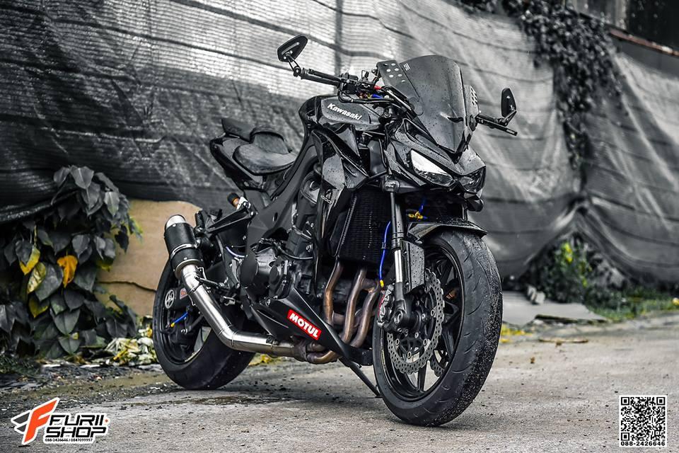 Kawasaki Z1000 ve dep huyen bi trong than hinh full black - 9
