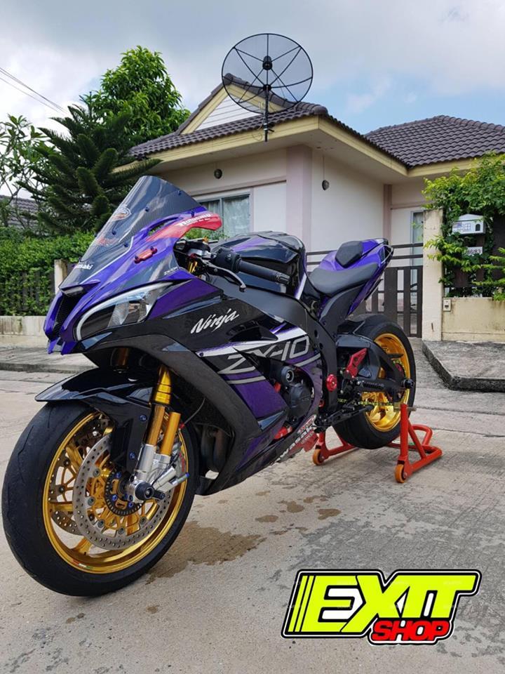 Kawasaki ZX10R ve dep tuyet sac ben tone mau tim mong mo - 9
