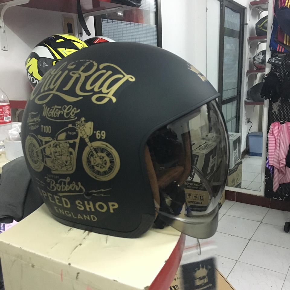 Royal Helmet Ha Noi Non bao hiem Royal 34 M139 tron tot cho anh em Ha Noi - 4