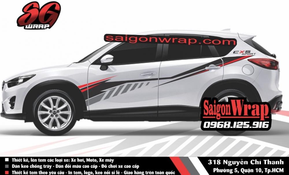Tem Xe Mitsubishi Pajero Sport Kia Sorento Audi Q7 Isuzu MuX Lexus LX570 SaiGonWRAP - 15