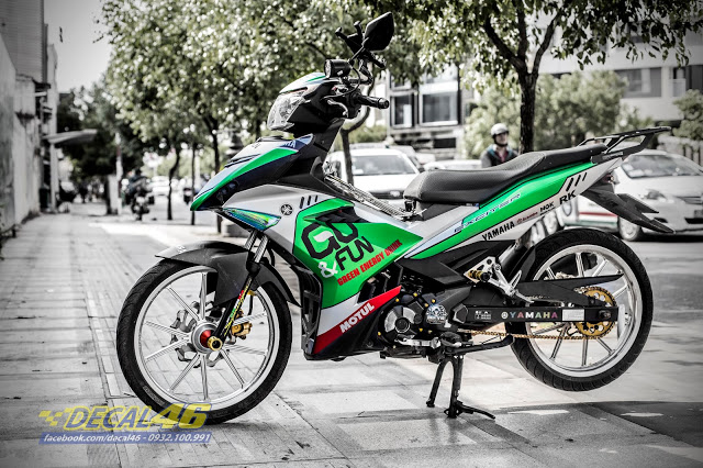 Tong hop tem trum Exciter 150 xanh bac thang 62018 do Decal 46 thuc hien - 16