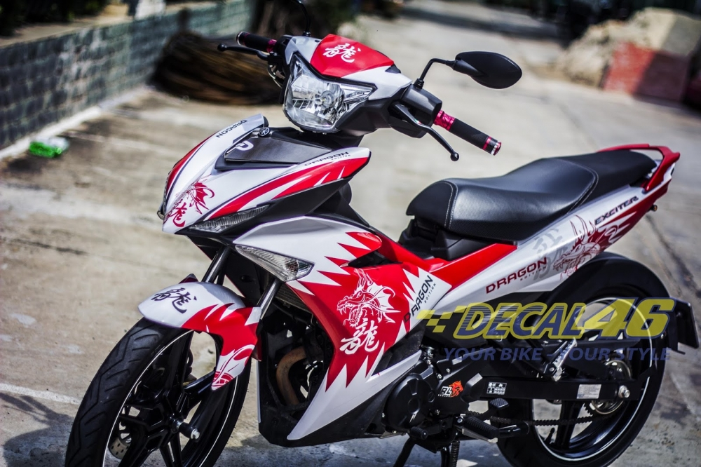 Tong hop tem xe Exciter 150 trang do chat thang 62018 do Decal46 thuc hien - 39