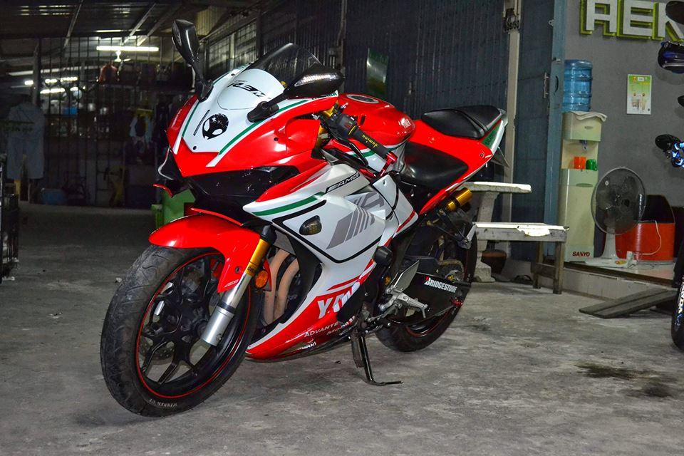 Yamaha R3 ban do khac biet mang ten R3M AMG V4