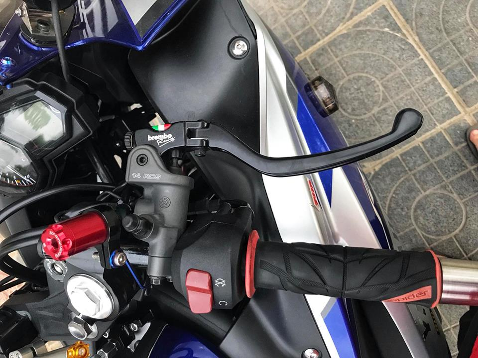Yamaha R3 mau Sport city do phong cach Touring cua Biker Viet - 6