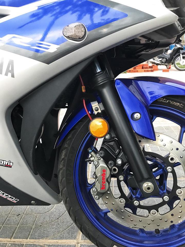 Yamaha R3 mau Sport city do phong cach Touring cua Biker Viet - 8
