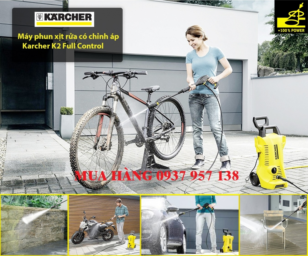 BAN MAY RUA XE CO CHINH AP KARCHER MADE IN GERMANY - 2