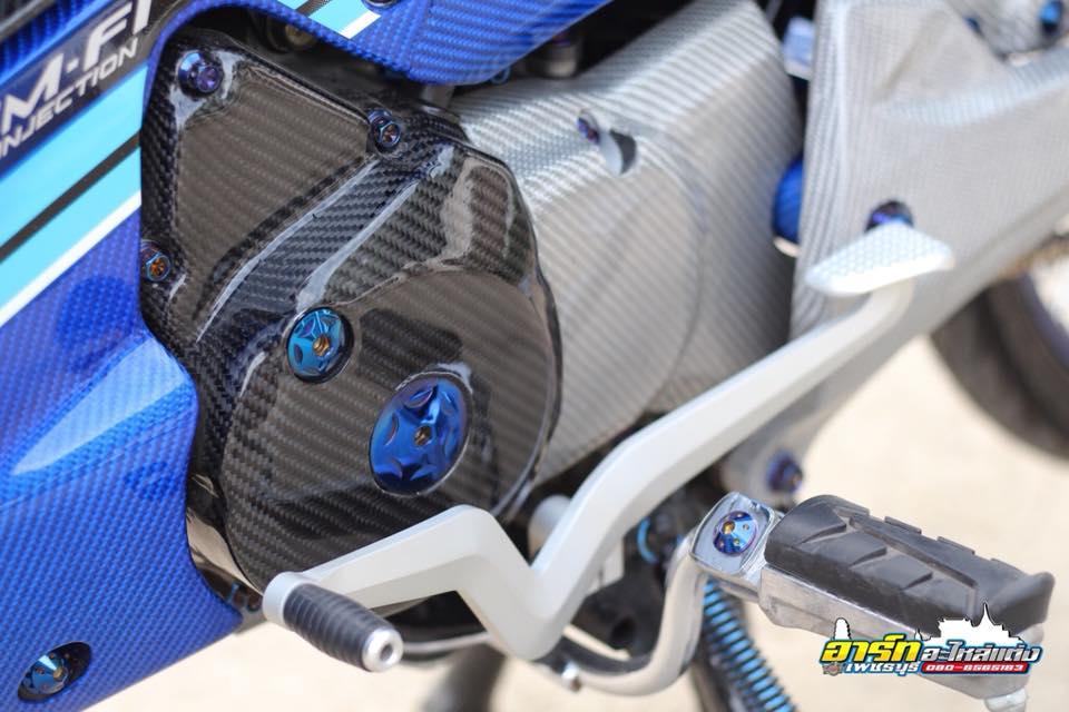 Chi tiet chiec Wave 125i do op Carbon Fiber full xe cuc dang cap tren dat Thai - 2