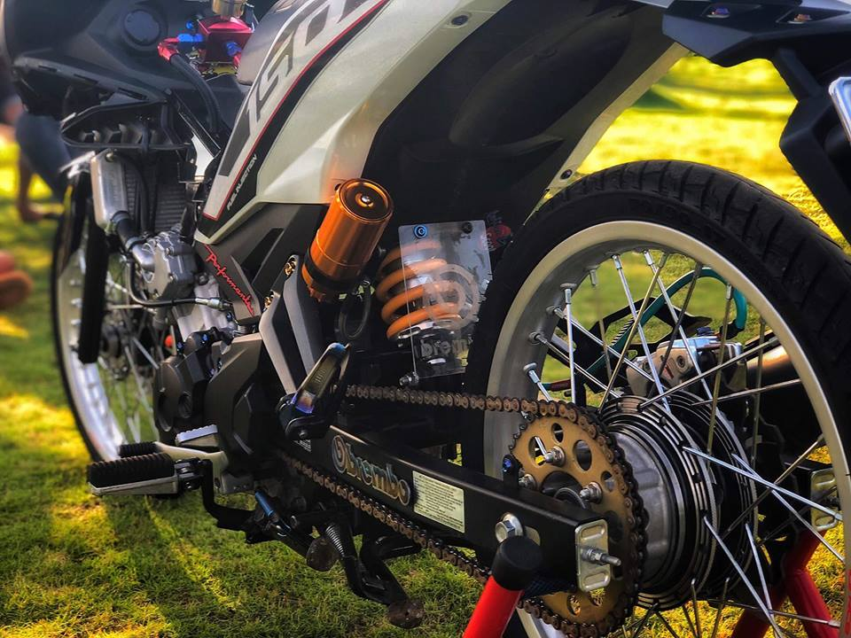Exciter 150 do xe gio voi noi cong khung khiep cua biker Dong Nai - 7