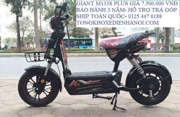Giant m133 plus moi tinh gia chi 6tr8 du mau tai Tong kho xe dien Ha Noi - 6
