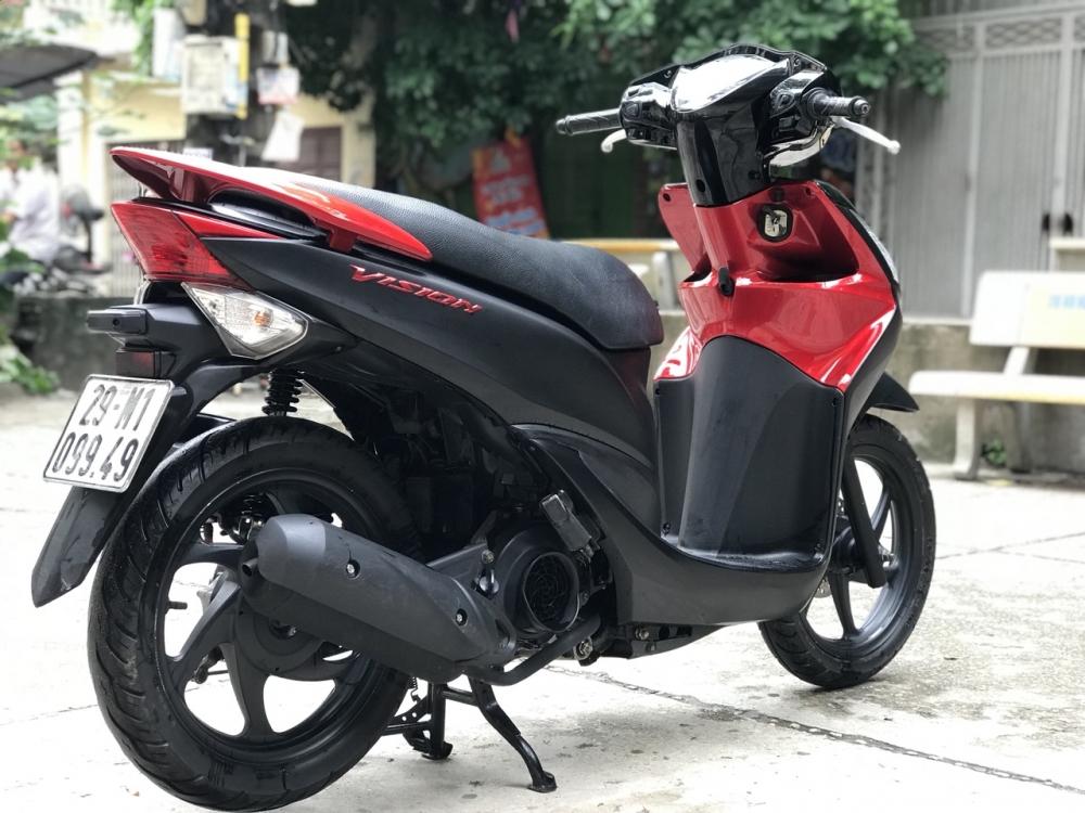 Honda Vision phien ban dac biet mau Do Den chinh chu