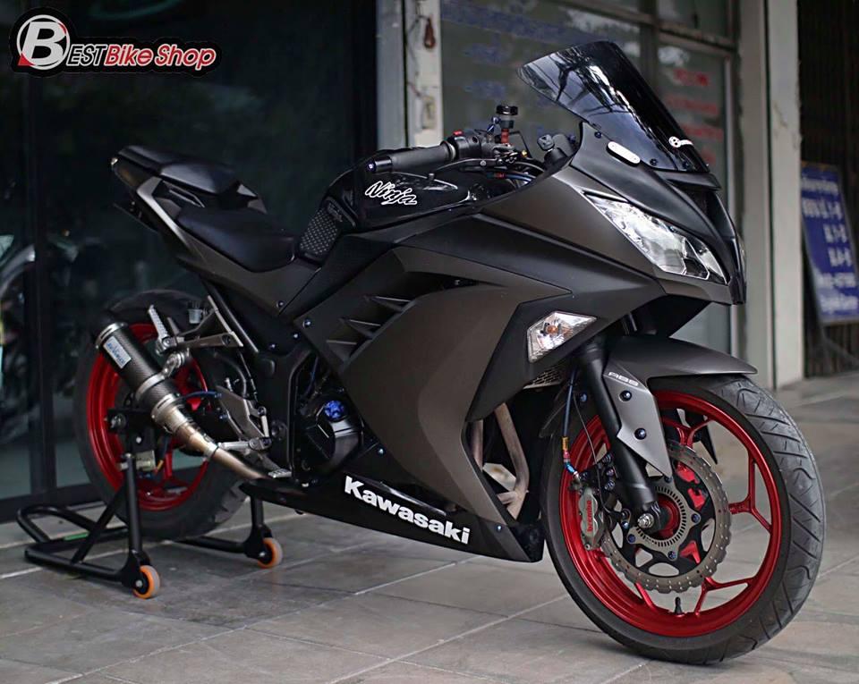 Kawasaki Ninja 300 do kich doc voi than hinh Matte Black - 7