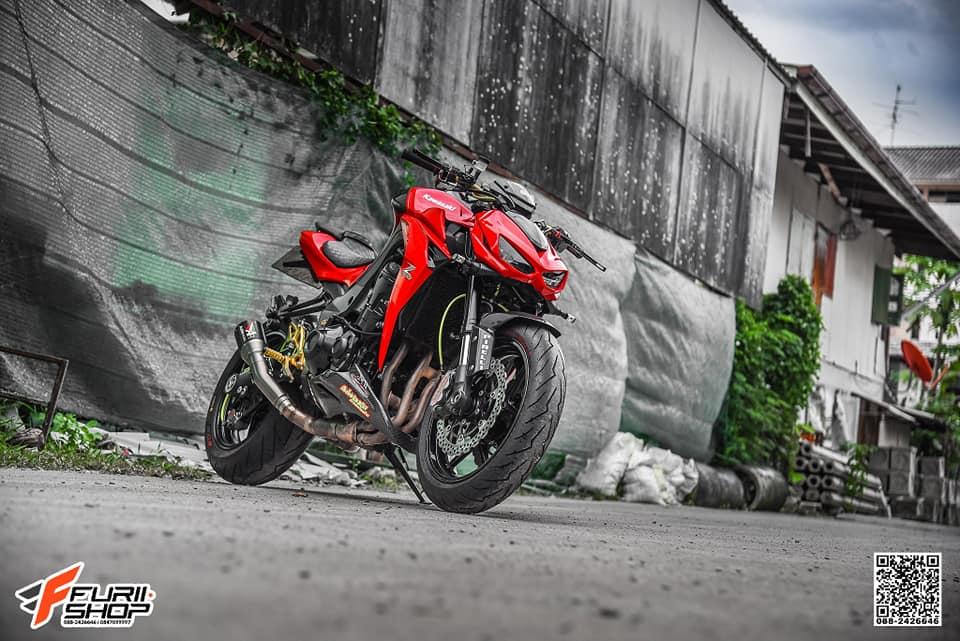 Kawasaki Z1000 ban do dep me ly voi tone mau Red Sporty - 11
