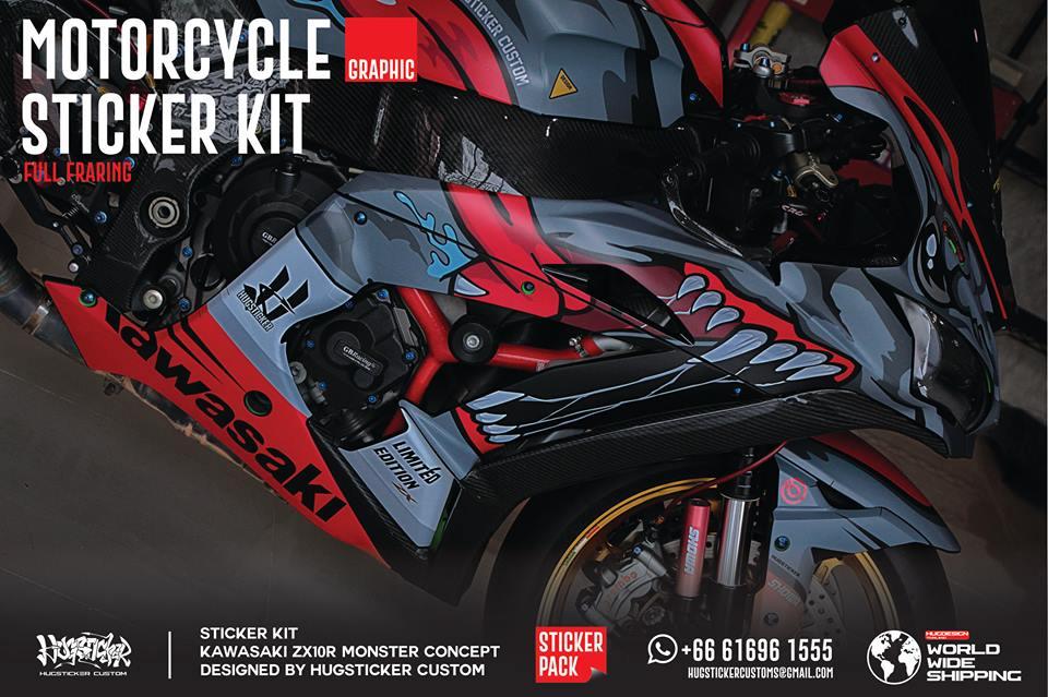 Kawasaki ZX10R ban do sang gia voi mau ao Monster - 3