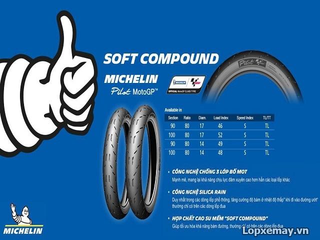 Lop xe may Michelin Pilot Moto GP so luoc ve dong lop mang cong nghe duong dua - 2