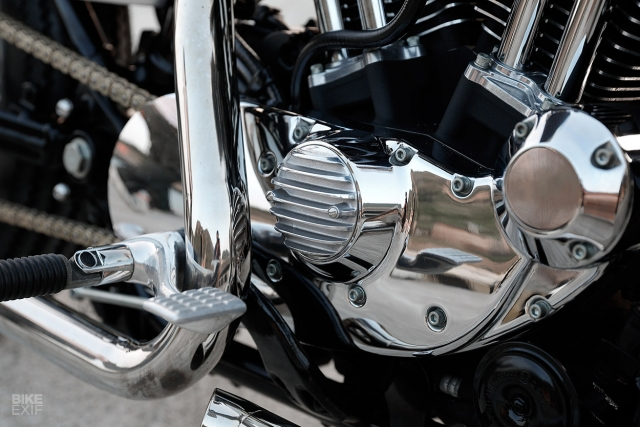 HarleyDavidson Sportster XL1200 an tuong voi ban do Bobber GREY MATTER - 5
