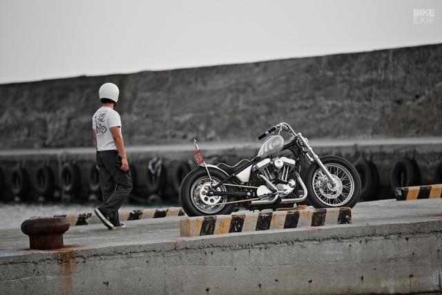 HarleyDavidson Sportster XL1200 an tuong voi ban do Bobber GREY MATTER - 12