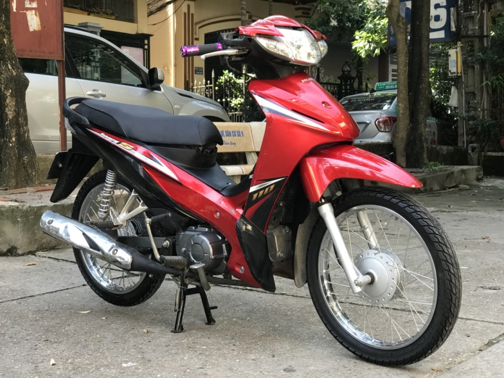 Honda Wave S 110 mau do den doi canh mong - 4