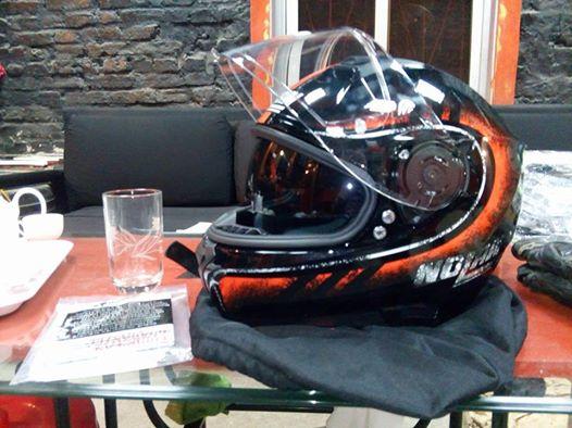 Nolan N87 Fulgor Metal Black Orange - 9