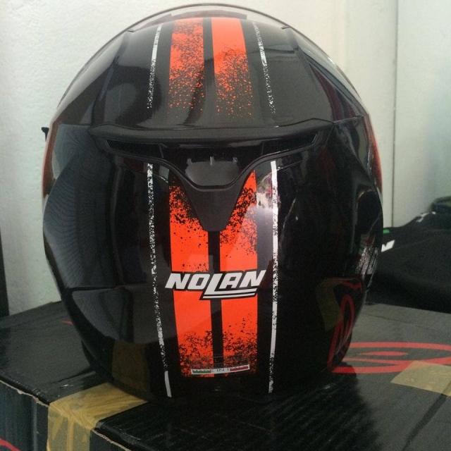 Nolan N87 Fulgor Metal Black Orange - 11