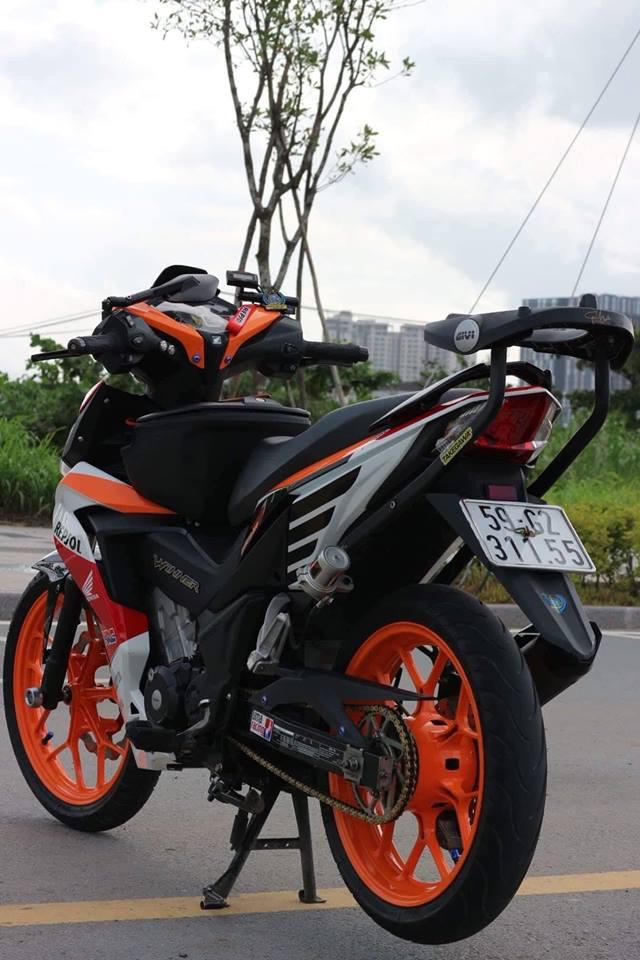 Winner 150 do sieu khung voi bo phanh Yamaha R6 cung loat do choi cuc chat - 9