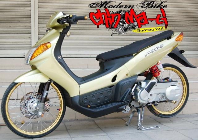 Yamaha Nouvo do chien binh doi dau so huu doi chan sieu khiep - 9