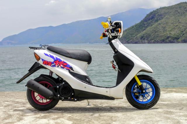Honda Dio Chu Coc Kute voi option do choi gay me nguoi xem cua ong chu Quan Pho - 3