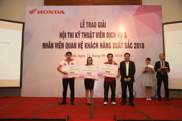 Honda Viet Nam to chuc Hoi thi Ky thuat vien Dich vu Nhan vien Quan he Khach hang xuat sac 2018 - 4