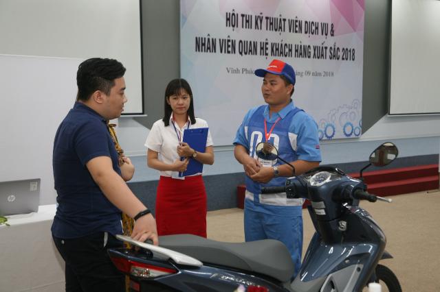 Honda Viet Nam to chuc Hoi thi Ky thuat vien Dich vu Nhan vien Quan he Khach hang xuat sac 2018 - 6
