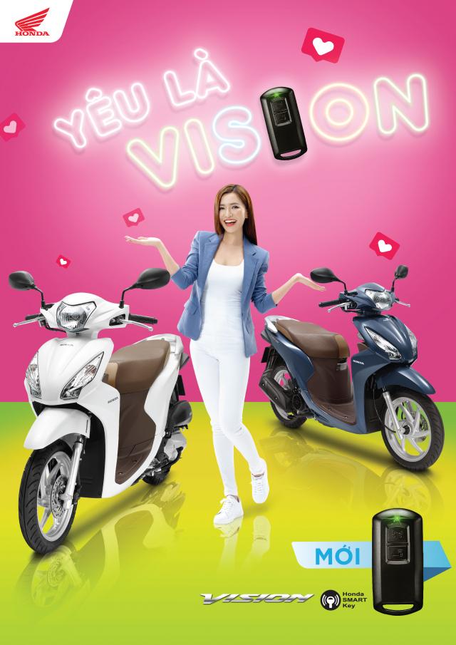 Honda Vision 2019 trang bi them khoa Smartkey mat dong ho moi gia tang nhe - 2