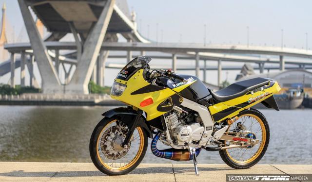 Kawasaki Serpico 150 do dan chan khien nguoi xem tan chay con tim - 11