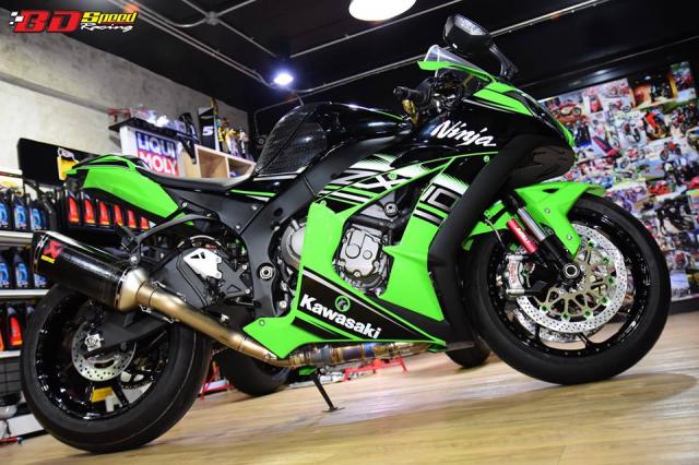 Kawasaki ZX10R do don gian day tinh te voi dan chan aluminim kich doc - 3