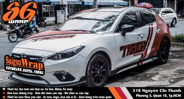 Mau Tem The Thao Doc Dao Cho Mazda 3 2018 SaiGonWRAP Design Tem Xe Hoi - 6