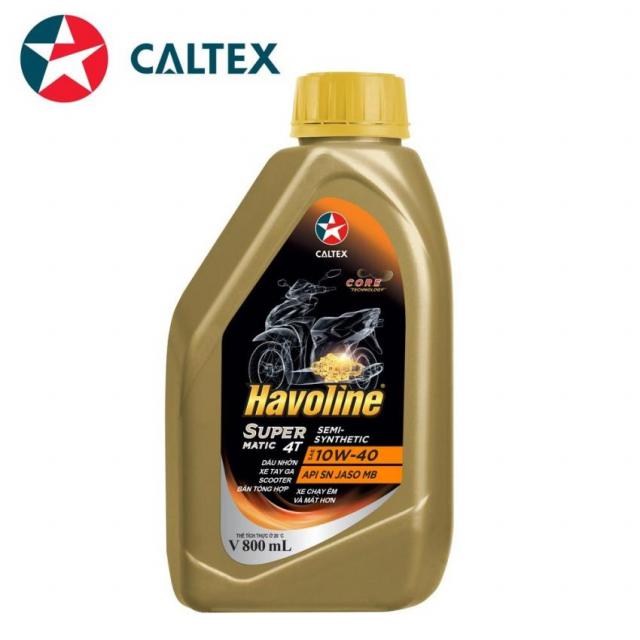 NHOT XE MAY TAY GA BON THI HIEU NANG CAO Havoline SuperMatic 4T SemiSynthetic SAE 10W40